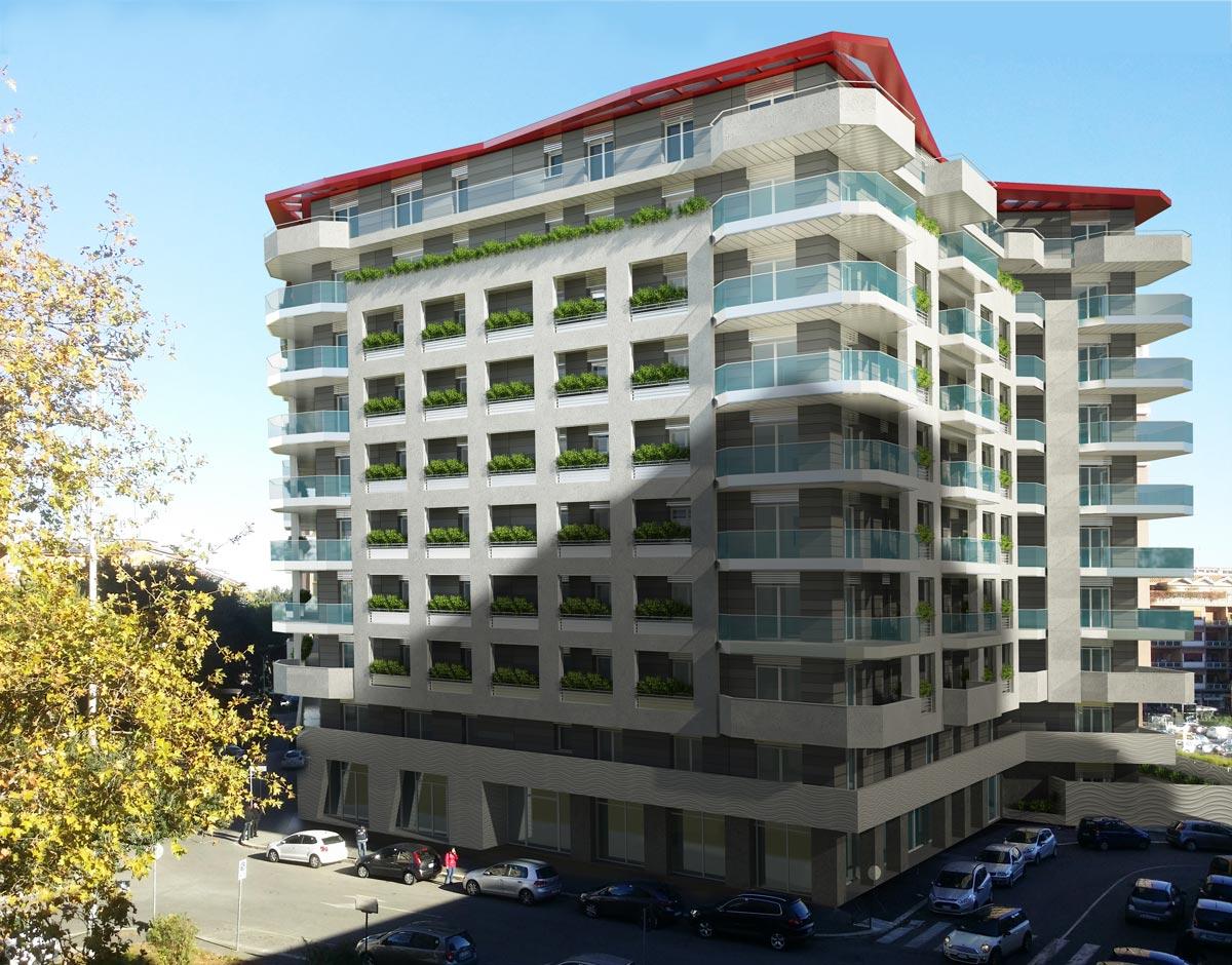 I balconi restituiscono una seconda pelle all'edificio
