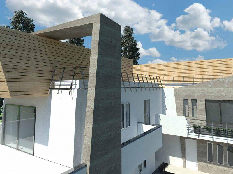 Casirate D'Adda è un'elegante progetto di edificio bifamiliare