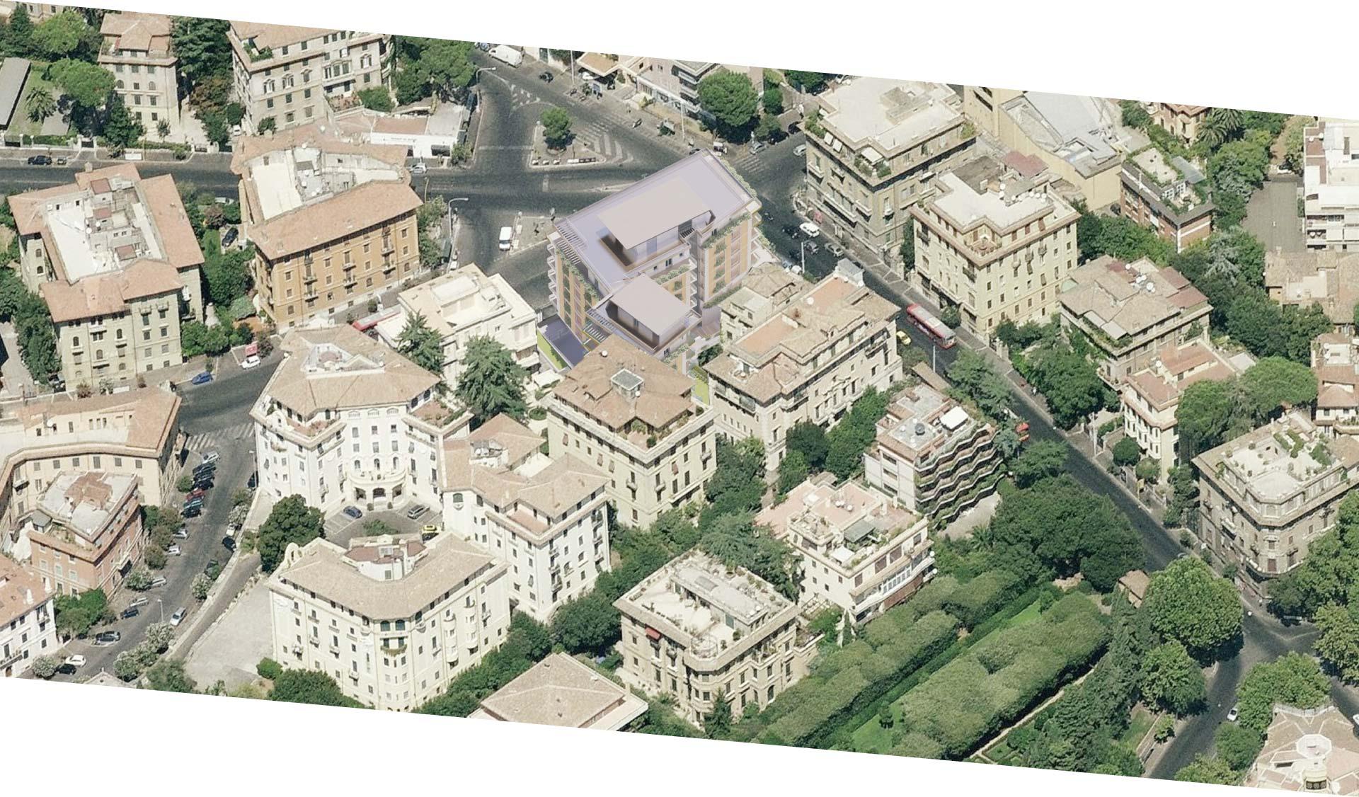 Palazzo Pitagora sorge nel cuore dei Parioli a Roma