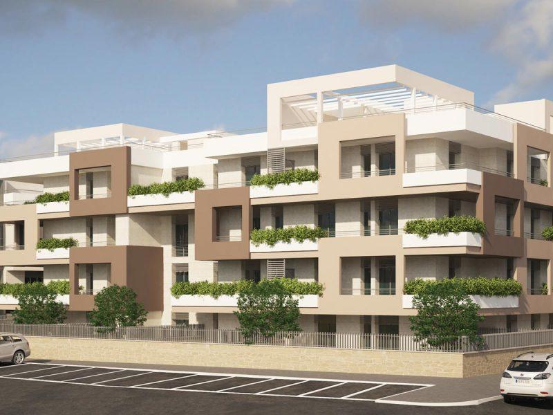 Il verde dei balconi punta a dare respiro agli ambienti
