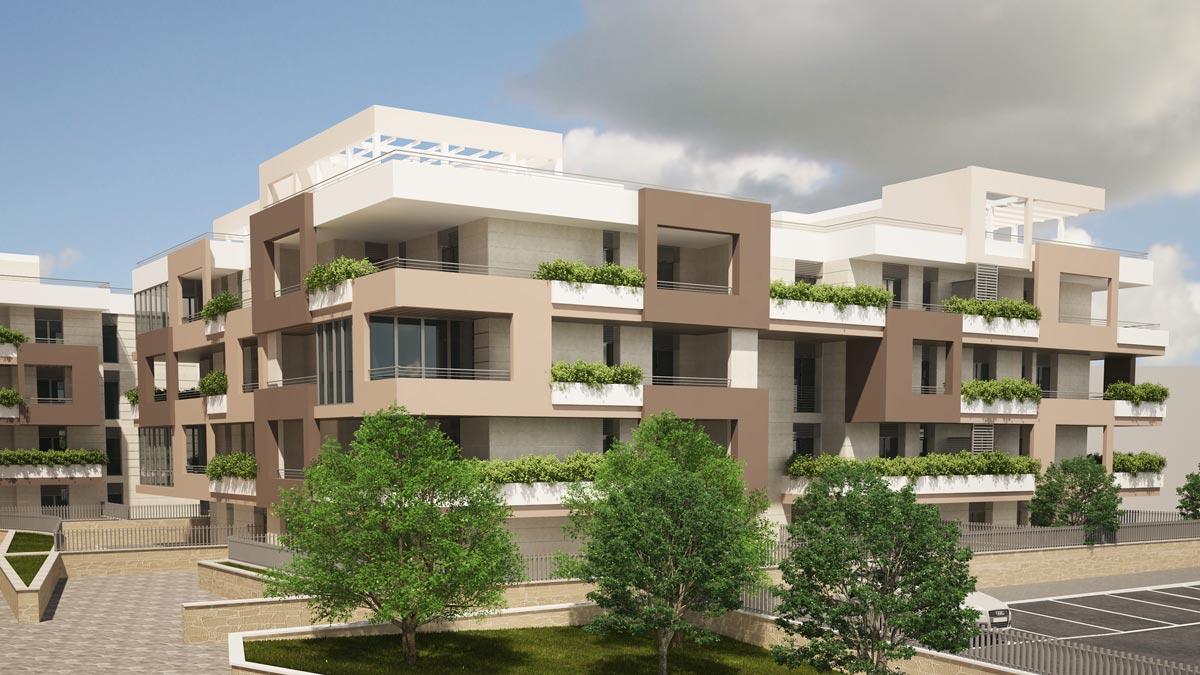 progettazione edifici residenziali via bufalotta roma