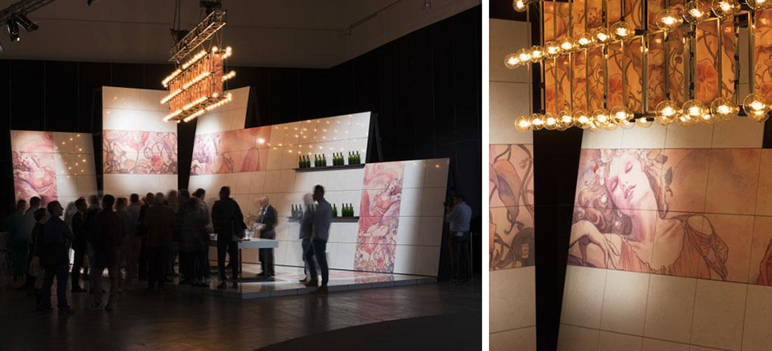 wine bar mostra architettura marmo