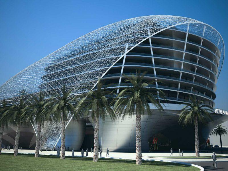 Il complesso monumentale Dubai Al Mamzar si connette al paesaggio avveniristico di Dubai