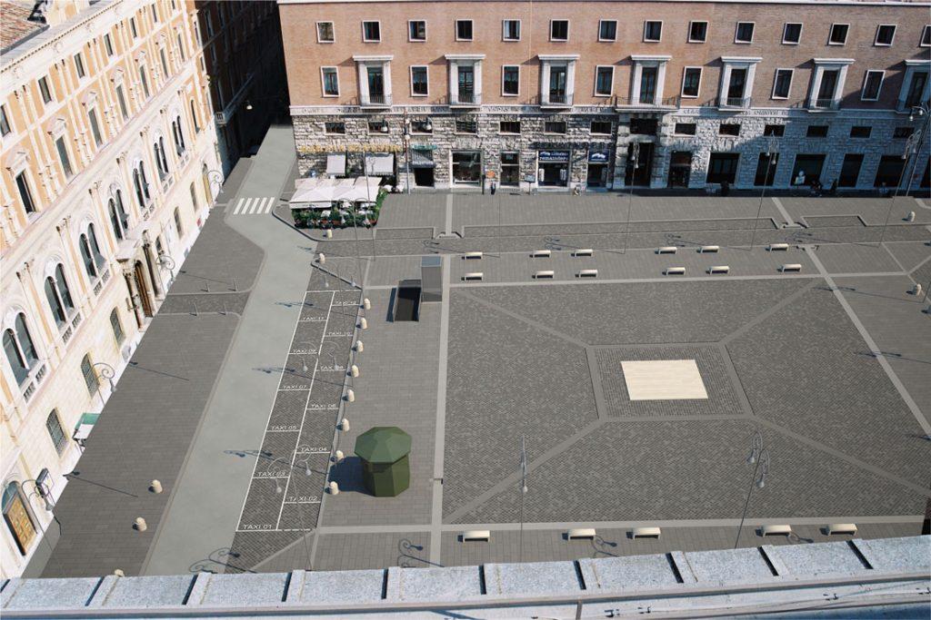 Bioedil ha inserito all'interno della piazza elementi classici