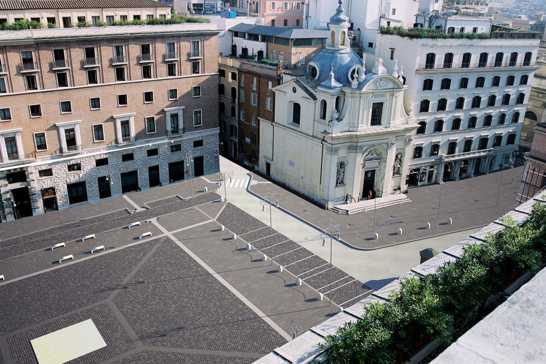 Piazza San Silvestro è situata a due passi da Via del Tritone
