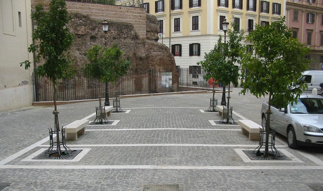 Lo stile dell'intervento di Bioedil è improntato sul modello originale della piazza