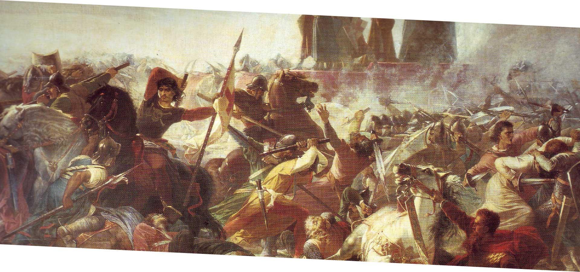 Amos Cassoli, La battaglia di Legnano