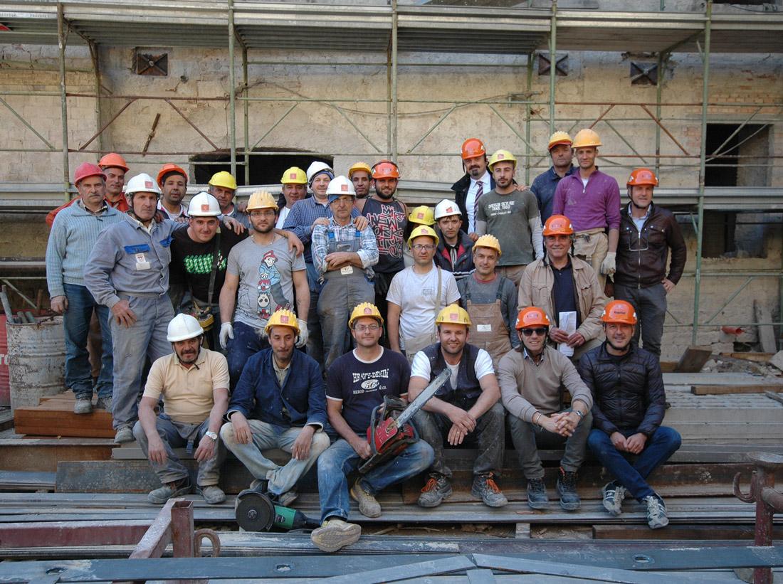 Ecco chi ha partecipato alla restauro di Palazzo Sgariglia