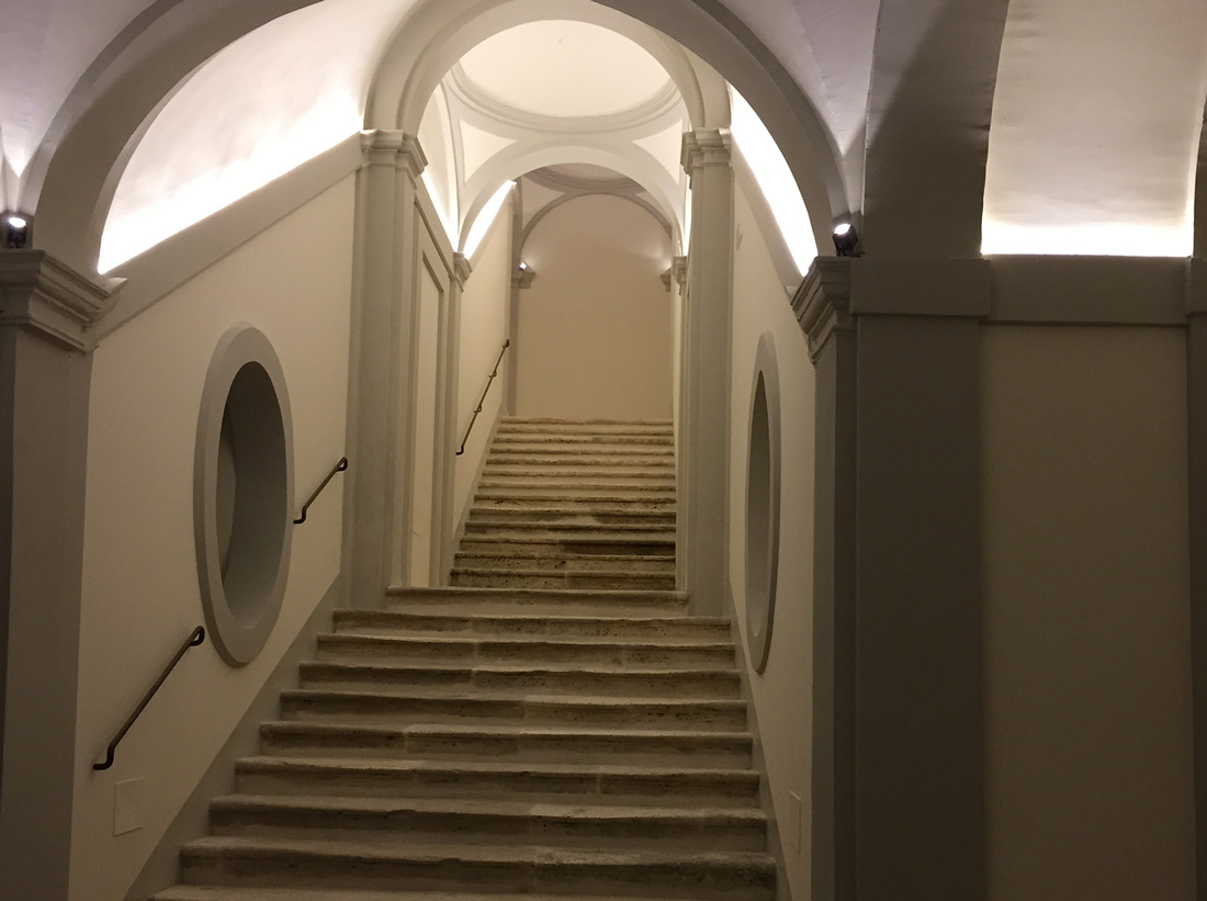 Le metrature interne di Palazzo Sgariglia sono state rispettate