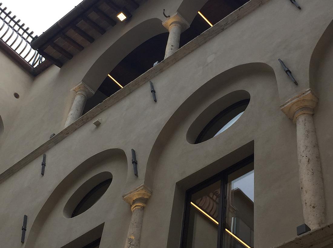 Ogni elemento architettonico è stato restaurato a regola d'arte