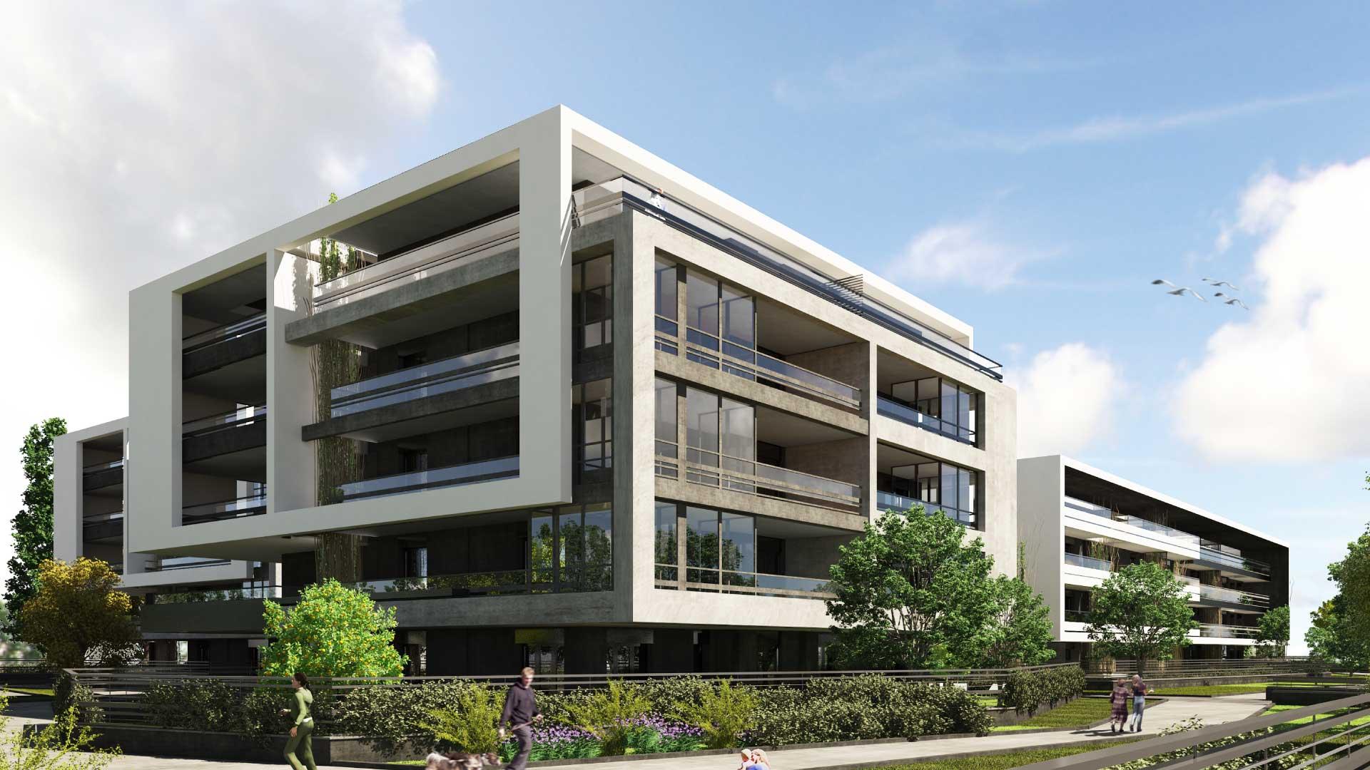 Progetto residenziale via di pineta sacchetti roma for Appartamenti di design