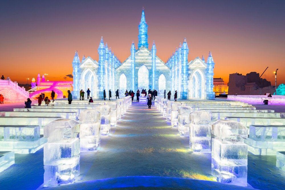 festival del ghiaccio ad Harbin