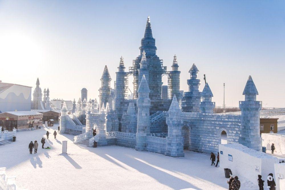 Monumenti in ghiaccio al Festival di Harbin