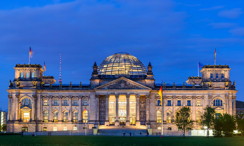 Bundestag a Berlino in Germania