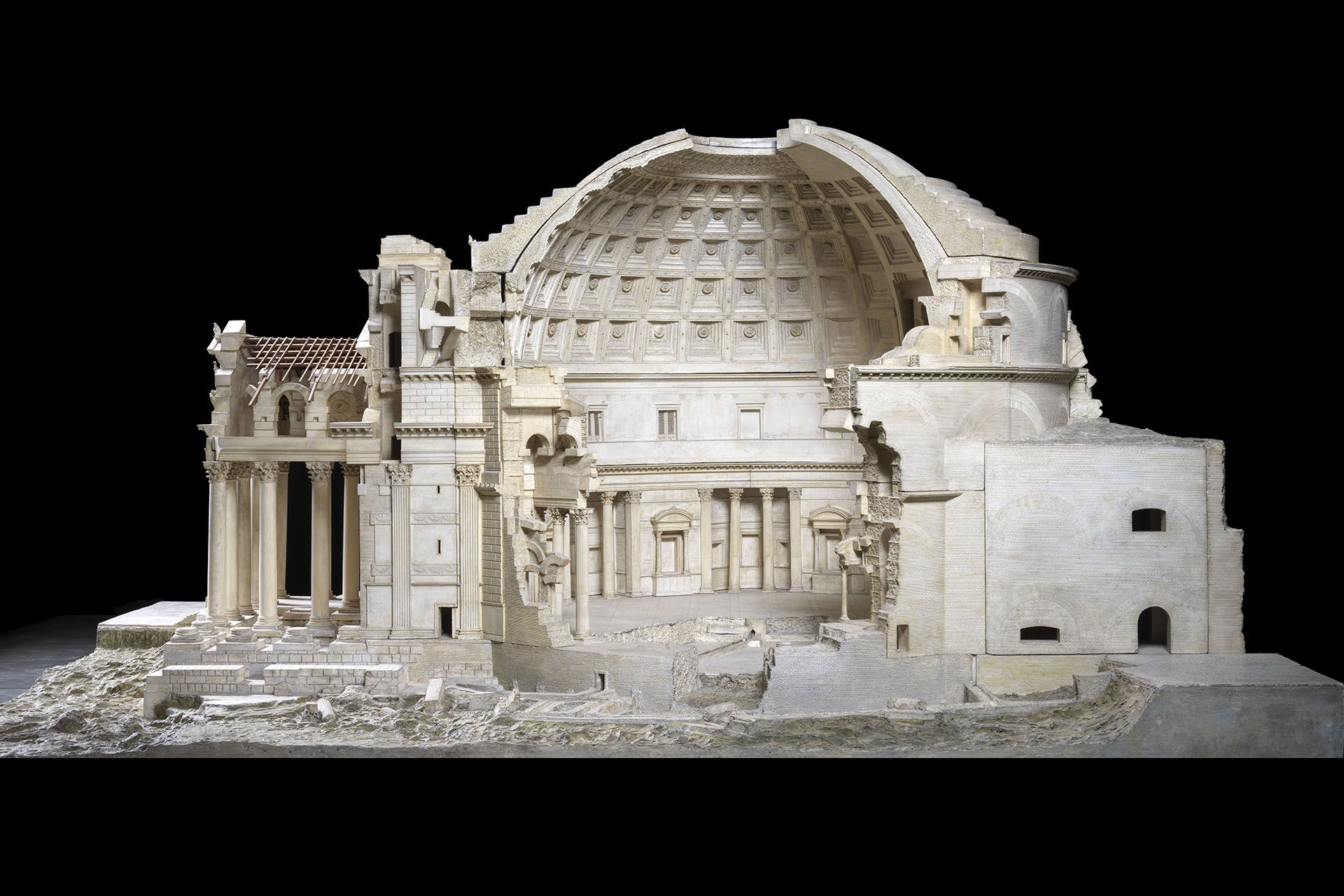 Pantheon di Roma alla mostra di Leonardo da Vinci