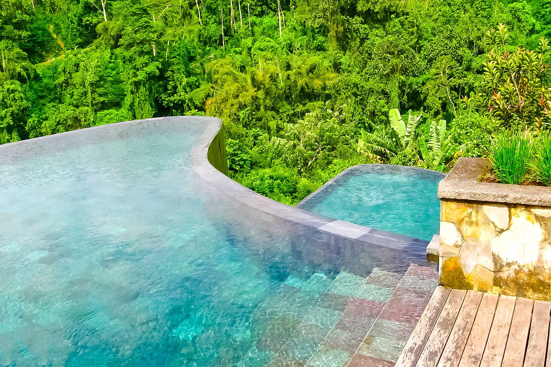 Vasche pensili a Bali