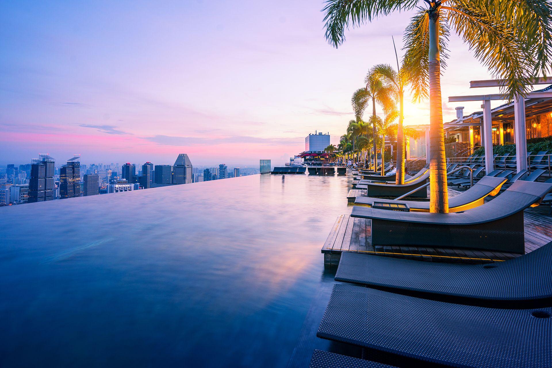La piscina del Marina Bay Sands tra le più sorprendenti al mondo