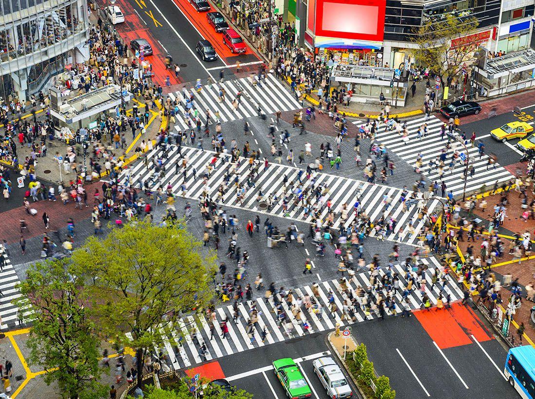 Tokyo attraversamento stradale