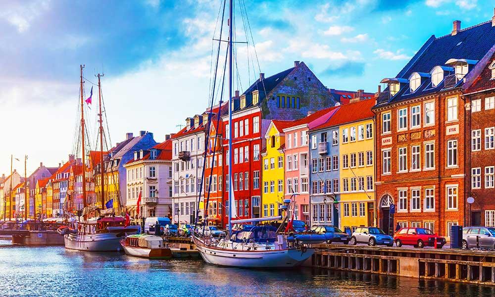 Una zona caratteristica di Copenhagen