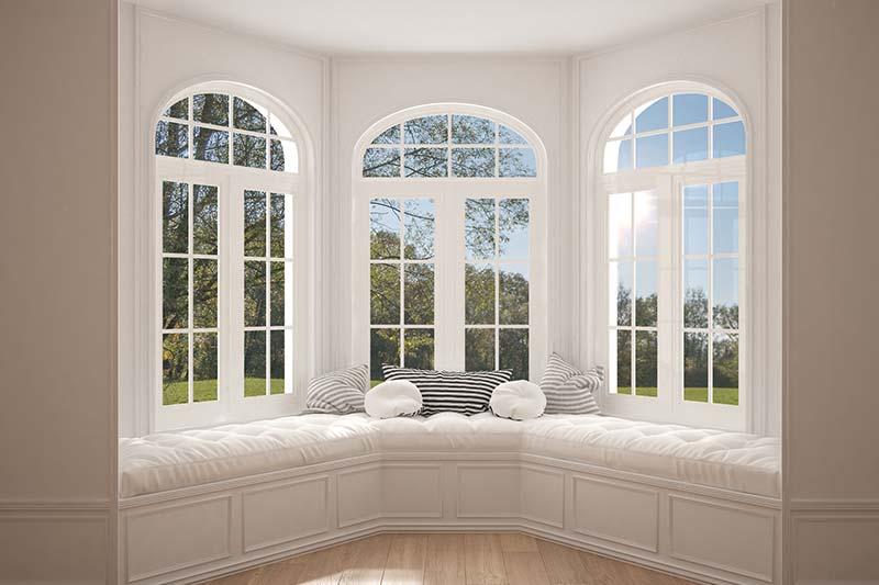 casa con veranda stile bow window